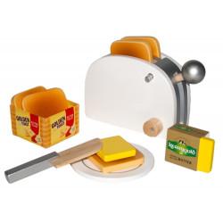 Golden Toast-Set aus Holz,...